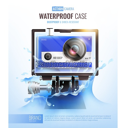 action camera and waterproof case poster