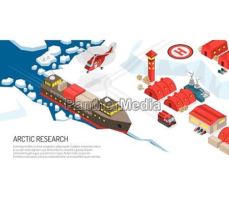 arctic research polar station settlement isometric