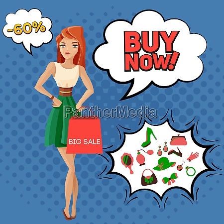 big sale of female accessories composition