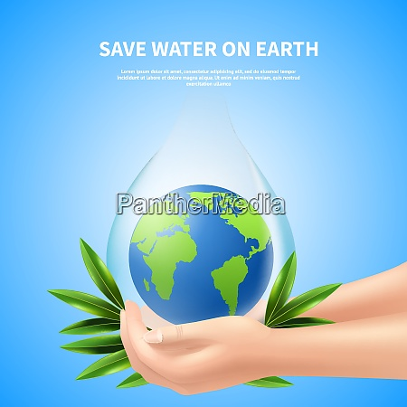 save water on earth advertising poster