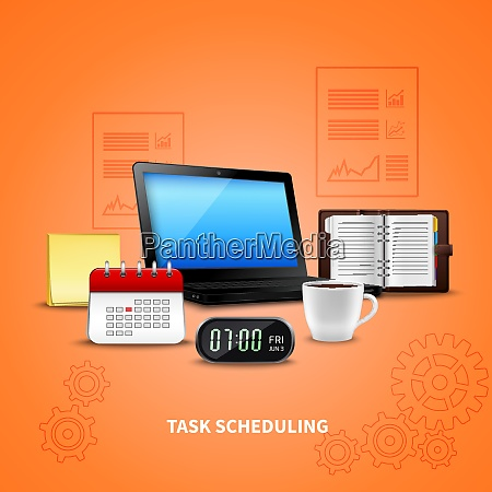 orange time management realistic with task