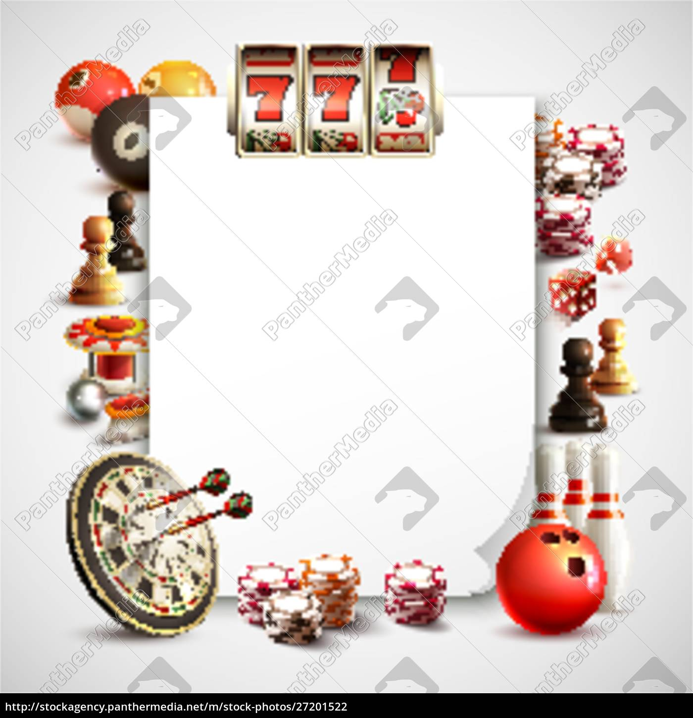 games, realistic, frame, with, white, sheet - 27201522