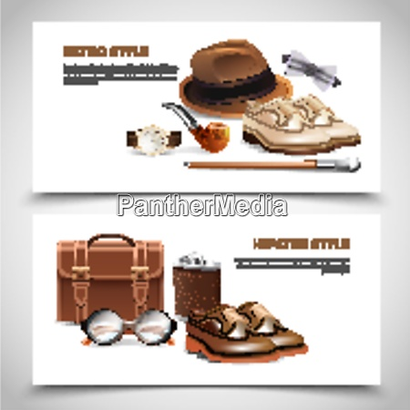 retro, and, hipster, styles, gentleman, accessories - 27201498
