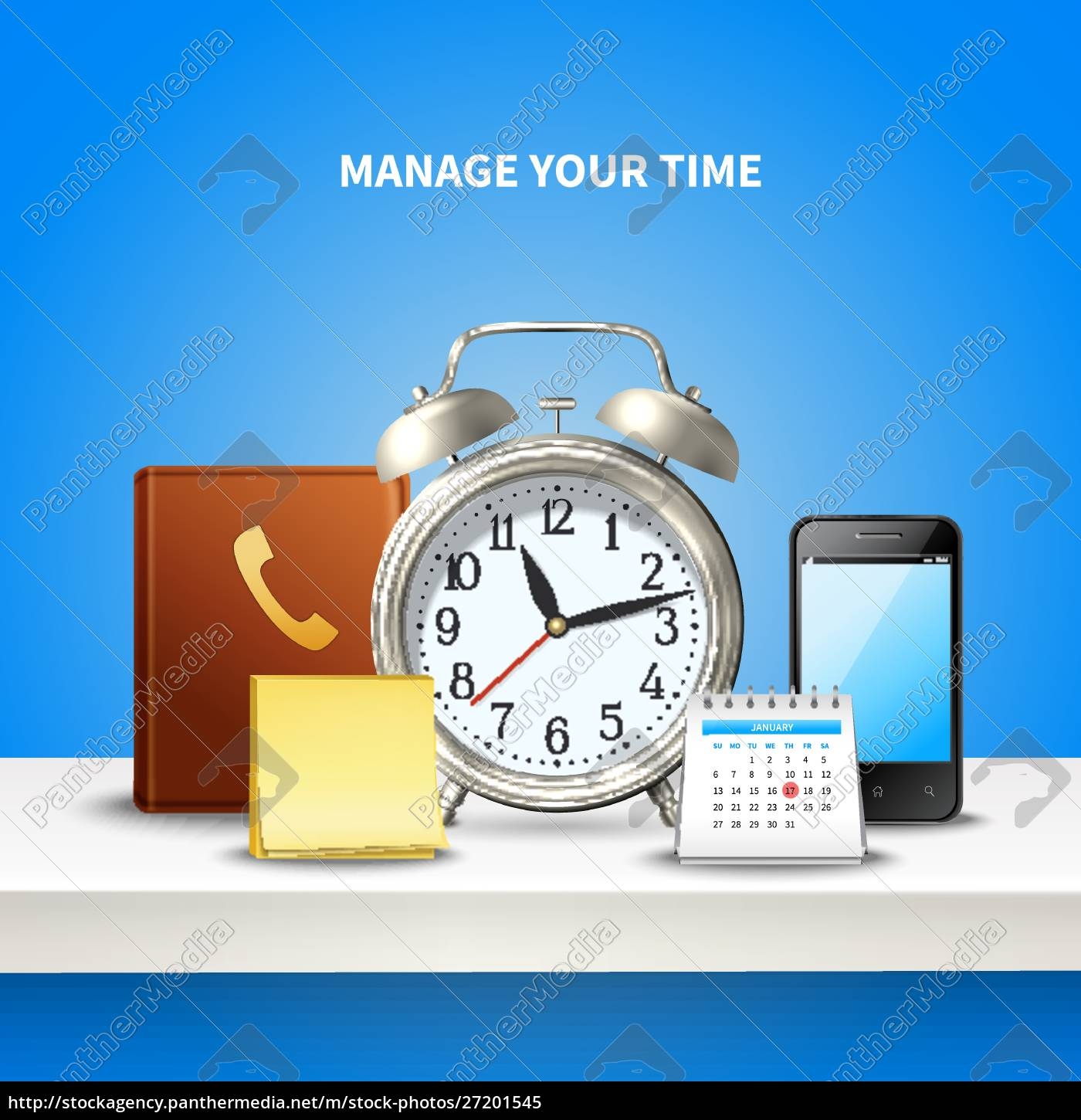 time, management, realistic, and, colored, composition - 27201545