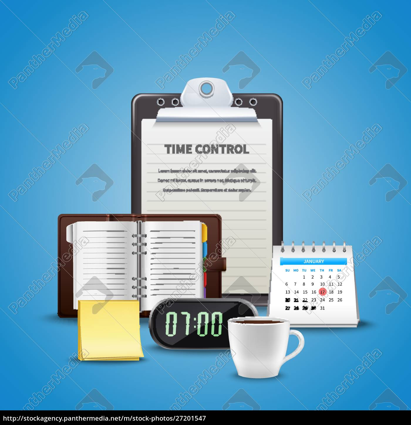 time, management, realistic, concept, with, different - 27201547