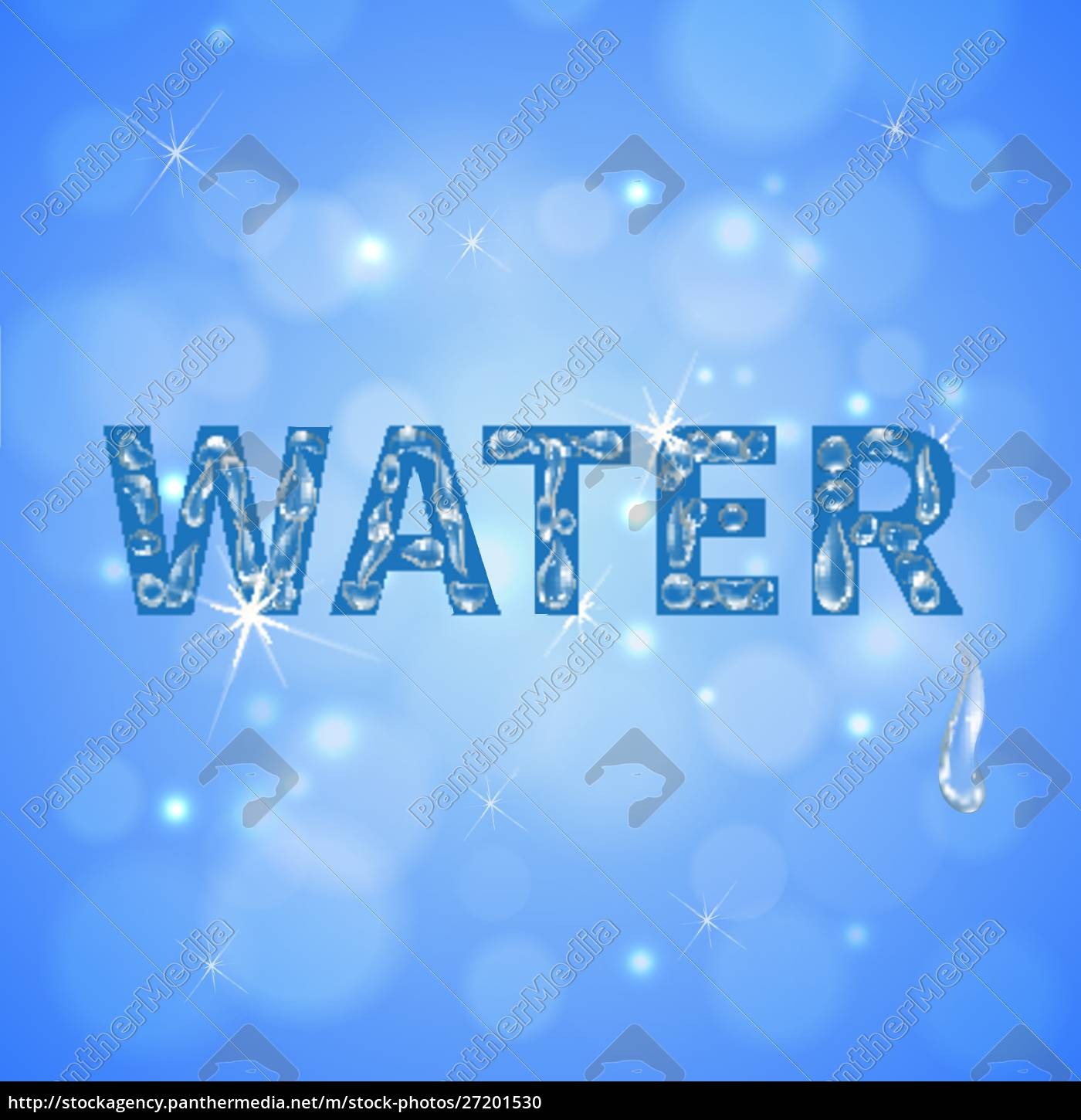 water, drops, blue, background, with, sun - 27201530