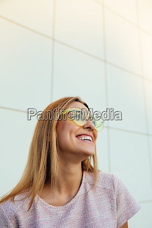 laughing girl spending the leisure time