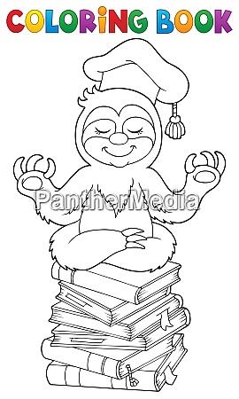 coloring book sloth teacher