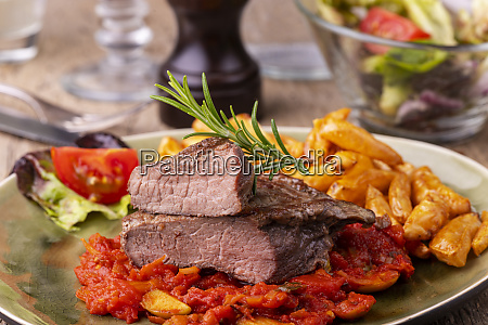 grilled steak on a plate with