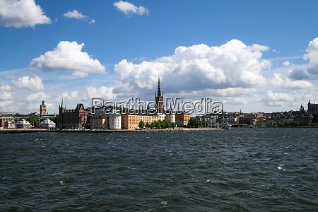 stockholm harbor city silhouette