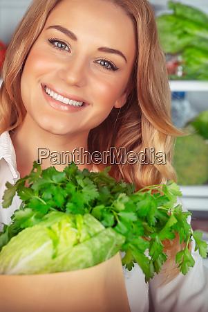 beautiful girl enjoying healthy nutrition
