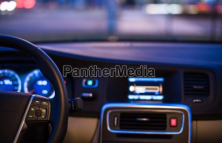 interior of a modern car at