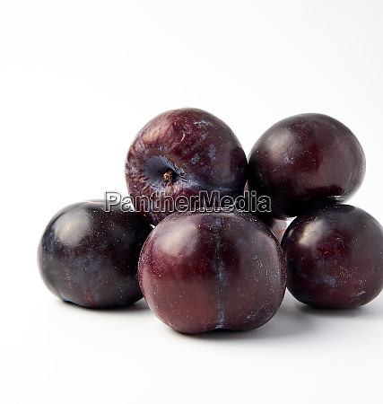 bunch of ripe fresh blue round