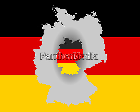 german flag and map
