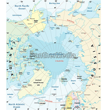 map of the arctic with the