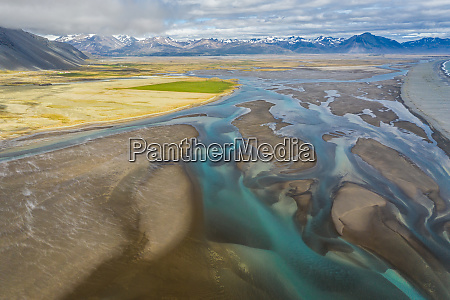 aerial view south eastern iceland overwhelming