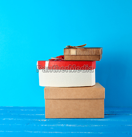 stack of various cardboard boxes on