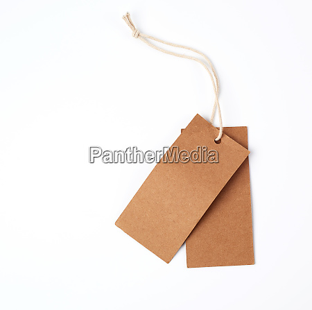 empty paper brown tag on the