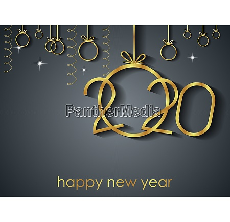 2020 happy new year background for