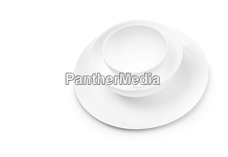 set of white dishes on table