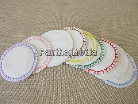 handsewn reusable washable cotton cosmetic pads