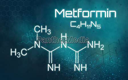 chemical formula of metformin on a
