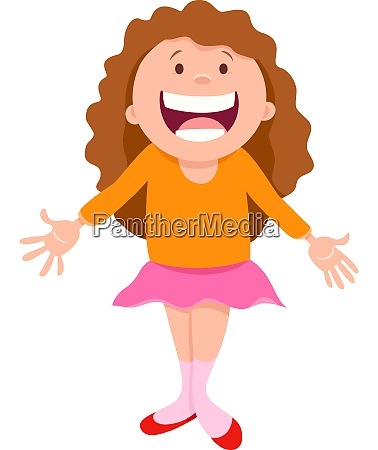 funny girl character cartoon illustration
