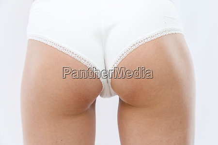 rear view slim young athletic girl