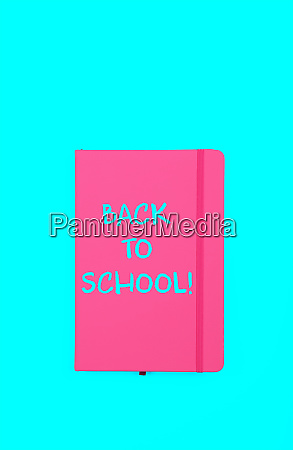 back to school sign on pink