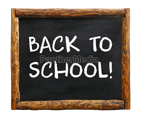 back to school chalk sign over
