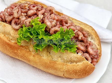 bread roll with crabs schleswig holstein