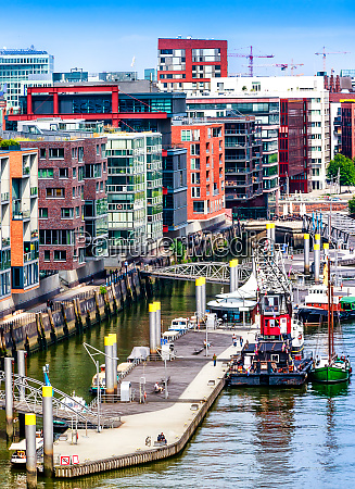 hafen city quarter of hamburg germany
