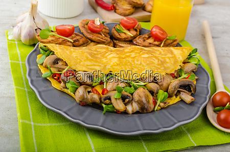 vegetarian omelet eat clean