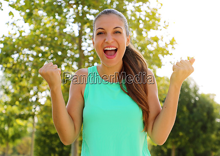 winning success concept beautiful fitness sporty
