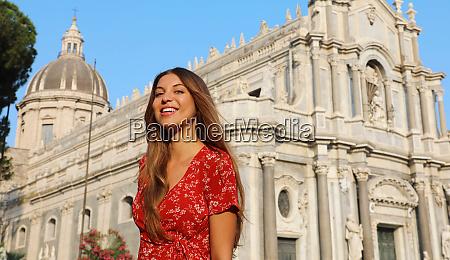 travel in siciliy beautiful smiling girl