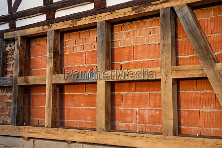 renovate an old half timbered house