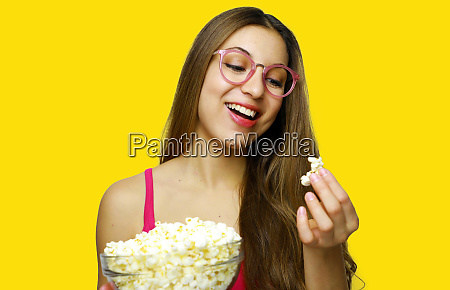 i love pop corn photo of