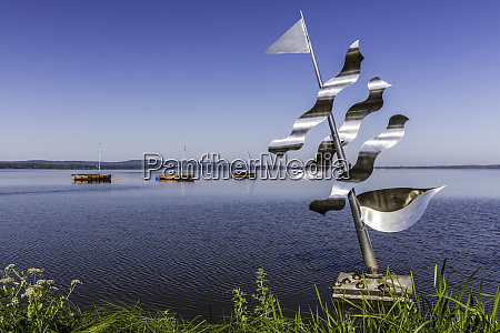 the stainless steel sculpture undines dream