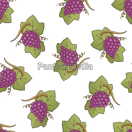 red grapes pattern