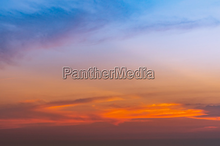 dramatic blue and orange sky and