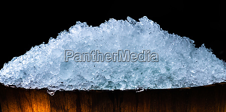 pile of crushed ice cubes in