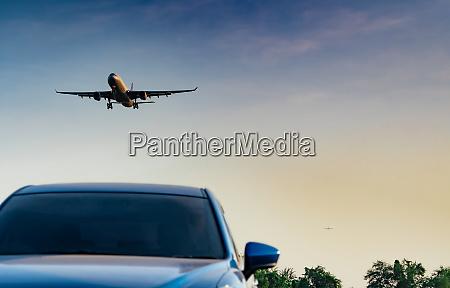commercial airline passenger plane landing approach