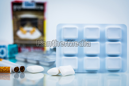 nicotine chewing gum in blister pack