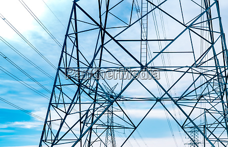 high voltage electric tower and transmission