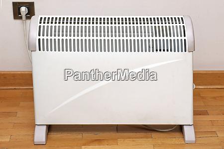 heater on wooden floor