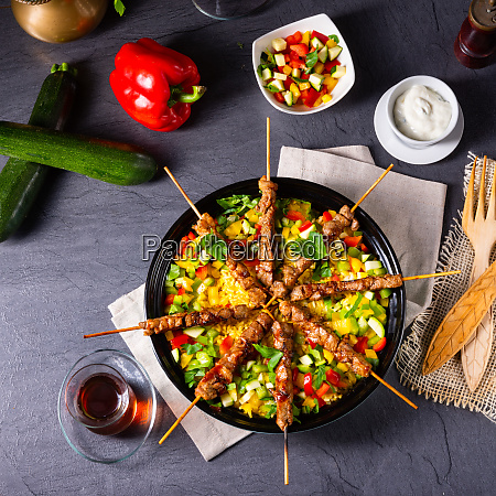 caucasus germany poland arabian background barbecue
