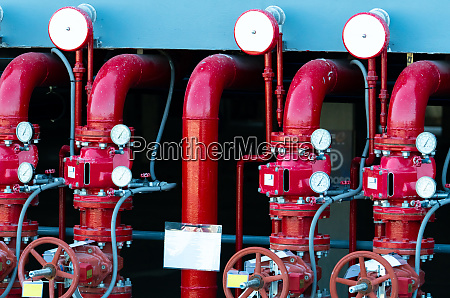 main supply water piping in the