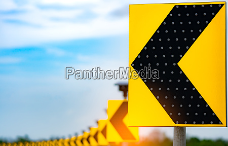 traffic sign with solar cell panel