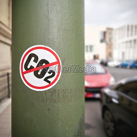 sticker as a protest against co2