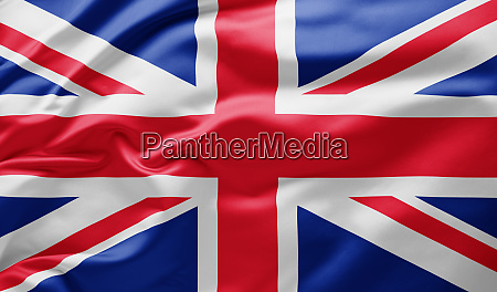 waving national flag of great britain